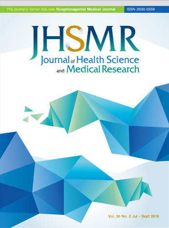J Health Sci Med Res: The Official Journal Health Science of Prince of Songkla University
